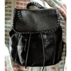 Kensie Black leather backpack